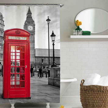 london big ben pattern shower curtain,shower curtain size 36x72 48x72 60x72 66x72