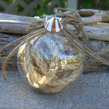 Seashell Nautical Rope Ornament Beach Wedding Favors
