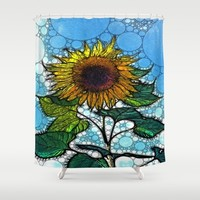 :: Sunshiny Day :: Shower Curtain by :: GaleStorm Artworks ::