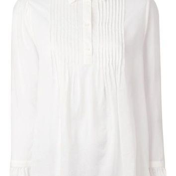 DCCKIN3 Saint Laurent pleated bib shirt