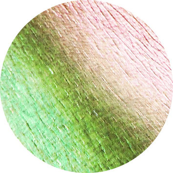 Silver with Green, Pink, and Gold Shift and Rainbow Glitter Vegan Loose or Pressed Eyeshadow Pigment - Fairy Fire Tinsel