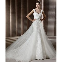 Gorgeous Sleeveless lace Tulle Bridal Gown - Star Bridal Apparel