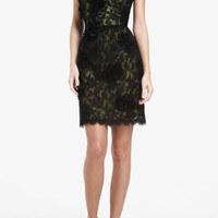 BCBGMAXAZRIA - WHAT'S NEW: NEW ARRIVALS: JENNIFER ONE-SHOULDER FLORAL LACE DRESS