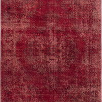 "8'5"" x 11'7"" Red Turkish Overdyed Rug"