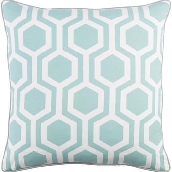 Torrance Toss Pillow POWDER BLUE/GREY