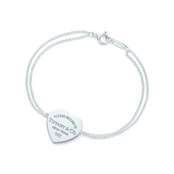 Tiffany & Co. - Return to Tiffany™ heart tag bracelet in sterling silver, medium.
