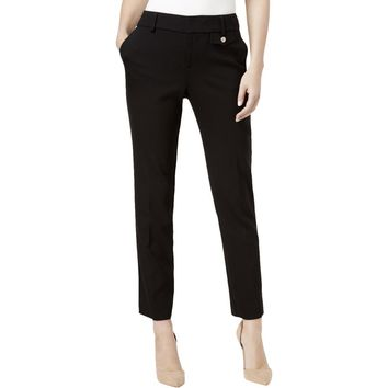 Charter Club Womens Twill Slim-Ankle Cropped Pants