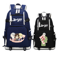 Hot Anime YURI on ICE Victor COS Color Printing Backpack Mochila Women School Bagpack Laptop Canvas Backpacks for Teenage Girls