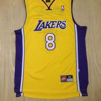 KUYOU Los Angeles Lakers Kobe Bryant Yellow 100% Authentic Jersey