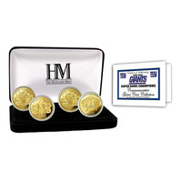 New York Giants 4-time Super Bowl Champions Gold Game Coin Set