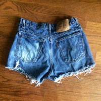 bleached and frayed women's size 4 Levi high waisted shorts