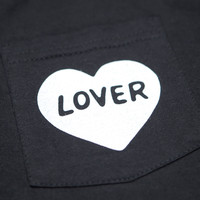 Lover Unisex Pocket T-shirt Black