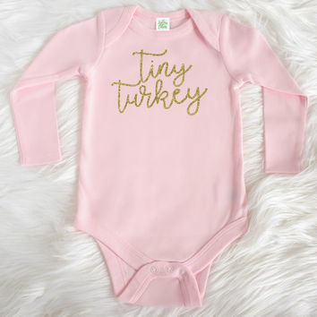 Thanksgiving one piece - Baby girl Thanksgiving bodysuit - Turkey shirt girl - Thanksgiving bodysuit for girl - Thanksgiving shirt baby girl