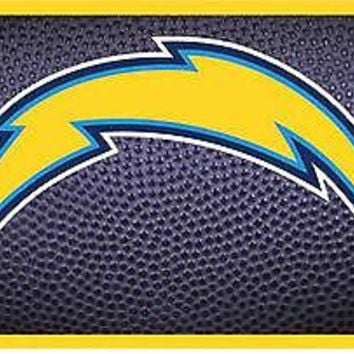 Los Angeles Chargers Team Ball Design Deluxe Laser License Plate Tag Football