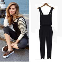 Aliexpress.com : Buy Women Black blue Pocket Jumpsuit Rompers Chiffon Dungarees Suspenders Overall Union Suit Playsuit bodysuit One Piece Hot Pants from Reliable suit tie suppliers on GREENRAY FAMILY | Alibaba Group