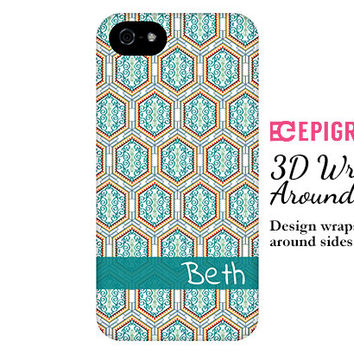 Boho iPhone 6 case, personalized iPhone 6 plus case, iPhone 5c case, iPhone 5s case, iPhone 4s case, 3D wrap around case, galaxy S6 case
