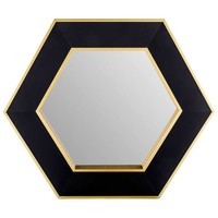 Black & Gold Hexagon Mirror | Hobby Lobby | 873414