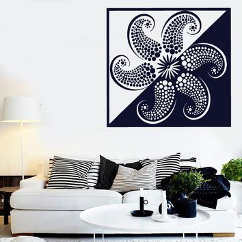 Large Vinyl Decal Marine Theme Image Starfish Mollusc Wall Sticker (n578)