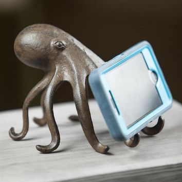 His and Hers Cast Iron Octopus Cell Phone Holders