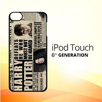 december2012 harry potter daily prophet F0163 iPod Touch 6 Case