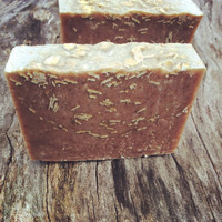 Oats & Apples Scrub Soap, vegan cold process natural, organic, gentle exfoliation, organic apple soap, unscented, artisan soap, antioxidant