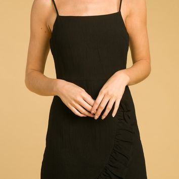Halter Wrap Dress With Ruffe Detail And Back Zipper (8ID0758RB)