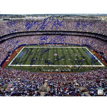 NY Giants Greats Multi Signed Stadium Shot 16x20 Photo (18 Sig)
