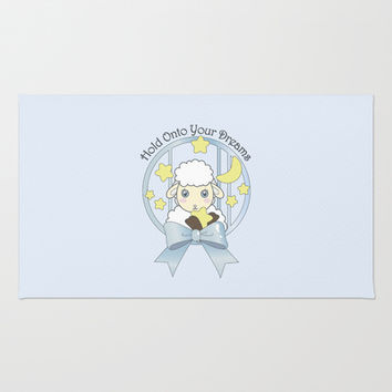 Cute Animal Accent Area Rugs for Kids Bedroom: Little Lamb, Moon, and Stars: Sweet Gift Idea for Baby Shower and Newborns