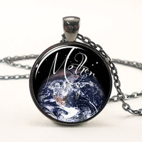 Mother Earth Necklace, Gaia Pendant, Goddess Jewelry (1490G1IN)