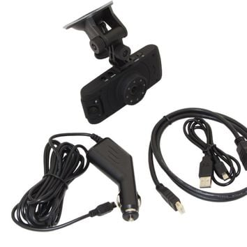 NEW Dashboard Mount HD Car DVR Two Lens Camera Road/Vehicle Protection