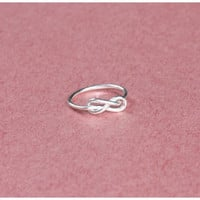 Knot Infinity Silver Ring - Infinity Ring - Promise Ring - Perfect Gift