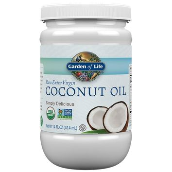 [Pack of 2] Garden of Life Organic Extra Virgin Coconut Oil - Unrefined Cold Pressed Coconut Oil for Hair, Skin and Cooking, 14...