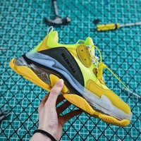 Balenciaga Triple S Clear Sole Trainers Yellow/Black - Best Online Sale
