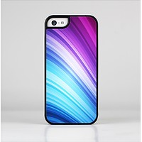 The Pink and Blue Glowing Neon Wave Skin-Sert Case for the Apple iPhone 5c