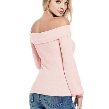 Bouslon Off-The-Shoulder Sweater at Guess