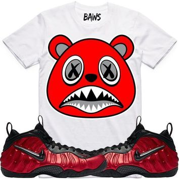 Angry Baws White Shirt - University Red Foamposites