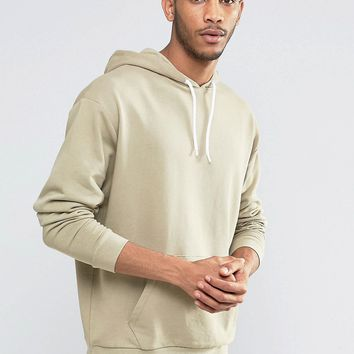 ASOS Oversized Hoodie In Stone