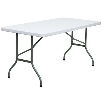 30''W x 60''L Granite Plastic Folding Table