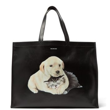 Animal-print leather tote bag | Balenciaga | MATCHESFASHION.COM US