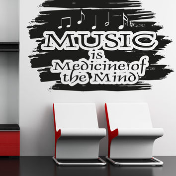 Vinyl Wall Decal Sticker Music is Medicine of the Mind #OS_AA1273