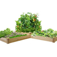 Two Tiers Dovetail Raised Garden Bed Kit 10.5 In, x 7 In. Stackable Planter