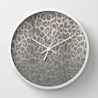 Shimmer (Snow Leopard Glitter Abstract) Wall Clock by soaring anchor designs ⚓ | Society6
