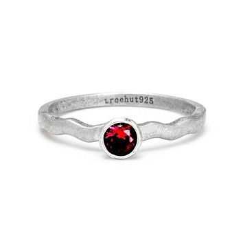 January Garnet Birthstone Ring