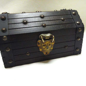 Pirate Treasure Chest Mens Womens Jewelry Box Valet Cuff Link Storage