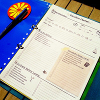 VACATION PLANNER and Packing List Printable PDF. Beige.