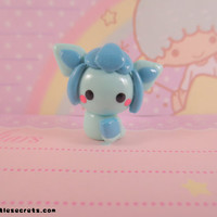 Pokemon Glaceon Chibi Kawaii Charm / Necklace
