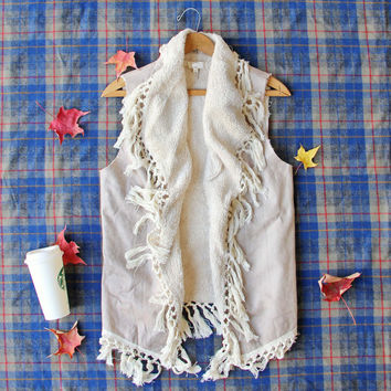 Mountain Laurel Fringe Vest