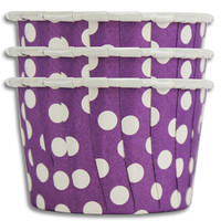 Purple Polka Dot Nut Cups