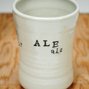 Pottery Beer Stein,Pint Glass,Ceramic Beer Glass,Father's day gift,Stein for Ale,No handle stein,Lager cup,Beer lover's gift,Ale Lager Beer,