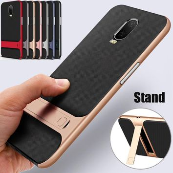 OnePlus 6T case One Plus 6 cover anti-shock hybrid soft TPU cases + hard bumper cover for Oneplus6 6 T phone fundas capa coque